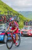 The Cyclist Luca Paolini on Col de Peyresourde - Tour de France. Col de Peyresourde,France- July 23, 2014: The Italian cyclist Luca Paolini Team  Katusha Stock Photo