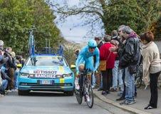 The Cyclist Luis Leon Sanchez Gil - Paris-Nice 2016 Royalty Free Stock Image