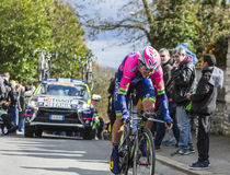 The Cyclist Luka Pibernik - Paris-Nice 2016 Royalty Free Stock Images