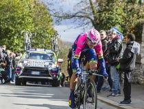 The Cyclist Luka Pibernik - Paris-Nice 2016 Royalty Free Stock Images