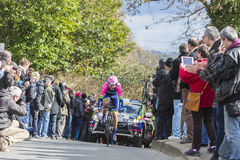 The Cyclist Luka Pibernik - Paris-Nice 2016 Royalty Free Stock Photos