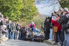 The Cyclist Luka Pibernik - Paris-Nice 2016 Royalty Free Stock Photos