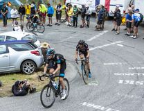The Cyclist Luke Rowe - Tour de France 2015 Stock Images