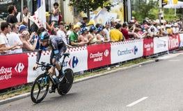 The Cyclist Luke Rowe - Tour de France 2015 Royalty Free Stock Photos