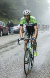 The Cyclist Maarten Wynants Climbing Col du Platzerwasel - Tour Stock Photo