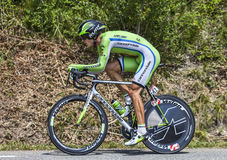 The Cyclist Maciej Bodnar. Chorges, France- July 17, 2013: The Polish cyclist Maciej Bodnar from Cannondale Team pedaling during the stage 17 of 100th edition of Royalty Free Stock Photography