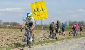 The Cyclist Magnus Cort Nielsen - Paris Roubaix 2015 Stock Photos