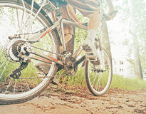 Cyclist man is riding bicycle Royalty Free Stock Photography