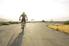 Cyclist man riding mountain bike Royalty Free Stock Photography