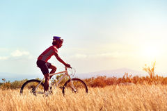 Healthy lifestyle cycling Stock Image