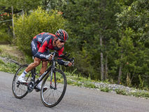 The Cyclist Manuel Quinziato. Chorges, France- July 17, 2013: The Italian cyclist Manuel Quinziato from BMC Racing Team pedaling during the stage 17 of 100th royalty free stock photography