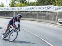 The Cyclist Marcel Wyss - Tour de France 2014 stock images