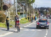 The Cyclist Marcus Burghardt - Paris-Nice 2016 Stock Photography