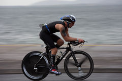 Cyclist, Mark Brown (1144), panning technique Royalty Free Stock Images