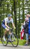 The Cyclist Mathew Hayman Climbing Col du Platzerwasel - Tour de Stock Photography