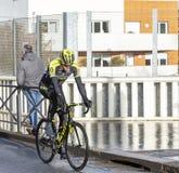 The Cyclist Mathew Hayman - Paris-Nice 2018 royalty free stock photos