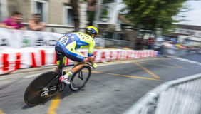 The Cyclist Matteo Tosatto Royalty Free Stock Photography