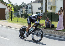 The Cyclist Matteo Trentin - Tour de France 2014 Royalty Free Stock Photo
