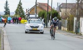 The Cyclist Matthew Martin Brammeier - Paris-Nice 2016 Stock Photos