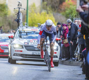 The Cyclist Matthias Brandle - Paris-Nice 2016 Stock Photos