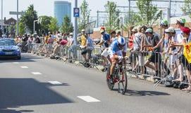 The Cyclist Matthieu Ladagnous - Tour de France 2015 Stock Photo