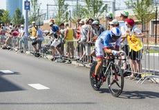 The Cyclist Matthieu Ladagnous - Tour de France 2015 Stock Image