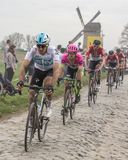 The Cyclist Matti Breschel - Paris-Roubaix 2018. Templeuve, France - April 08, 2018: The Danish cyclist Matti Breschel of EF Education First-Drapac pb Cannondale Stock Photo
