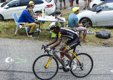 The Cyclist Merhawi Kudus Ghebremedhin - Tour de France 2015 Royalty Free Stock Photo