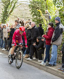 The Cyclist Michael Morkov Christensen - Paris-Nice 2016 Royalty Free Stock Photography