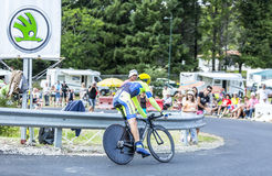 The Cyclist Michael Rogers - Tour de France 2014 royalty free stock photos