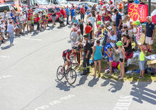 The Cyclist Michael Schar on Col du Glandon - Tour de France 201 Royalty Free Stock Photos