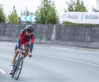 The Cyclist Michael Schar - Tour de France 2014 Royalty Free Stock Photo