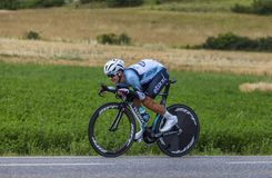 The Cyclist Michal Kwiatkowski. Chorges, France- July 17, 2013: The Polish cyclist Michal Kwiatkowski from Omega Pharma-Quick Step Team pedaling during the stage Stock Images
