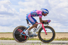 The Cyclist Michele Scarponi Royalty Free Stock Images