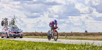 The Cyclist Michele Scarponi Royalty Free Stock Photography
