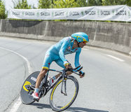The Cyclist Michele Scarponi - Tour de France 2014 Royalty Free Stock Photography