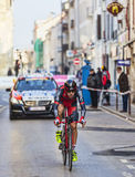 The Cyclist Moinard Amaël- Paris Nice 2013 Prologue in Houilles Stock Photo