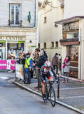 The Cyclist Monfort Maxime- Paris Nice 2013 Prologue in Houilles Royalty Free Stock Image