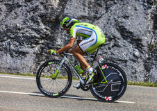 The Cyclist Moreno Moser. Chorges, France- July 17, 2013: The Italian cyclist Moreno Moser from Cannondale Team pedaling during the stage 17 of 100th edition of Stock Images