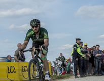 The Cyclist Morgan Lamoisso - Paris Roubaix 2015 Royalty Free Stock Photos