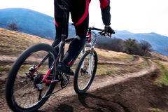 Cyclist in motion Royalty Free Stock Photography