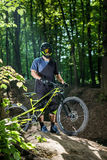 Cyclist on a mountain bike Stock Photography