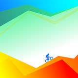 A cyclist on a mountain road Royalty Free Stock Images