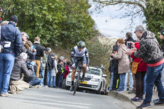 The Cyclist Nathan Haas - Paris-Nice 2016 Stock Image