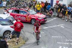 The Cyclist Nicolas Edet - Tour de France 2015 Royalty Free Stock Photos