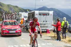 The Cyclist Nicolas Edet -Tour de France 2015 Stock Image