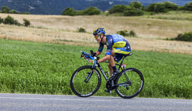 The Cyclist Nicolas Roche. Chorges, France- July 17, 2013: The Irish cyclist Nicolas Roche from Saxo-Tinkoff Team pedaling during the stage 17 of 100th edition Royalty Free Stock Photography