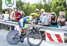 The Cyclist Nicolas Roche - Tour de France 2014 royalty free stock image