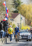 The Cyclist Nikolas Maes - Paris-Nice 2016 Stock Images