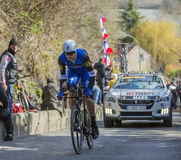 The Cyclist Nikolas Maes - Paris-Nice 2016 Royalty Free Stock Photography